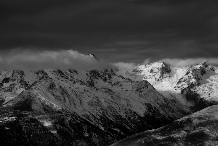 Dolomites in grey.  I love mountains. Their greatness and variety make me speechless every time.