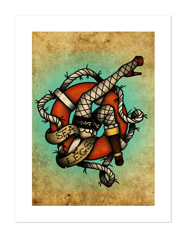 Traditional Tattoo Flash  Flash Nautical  Sea Tattoo  Neo TraditionalNeo Traditional Flash Art