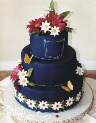 blue jean wedding | : random wedding cake of the day , unique wedding cakes , wedding ...