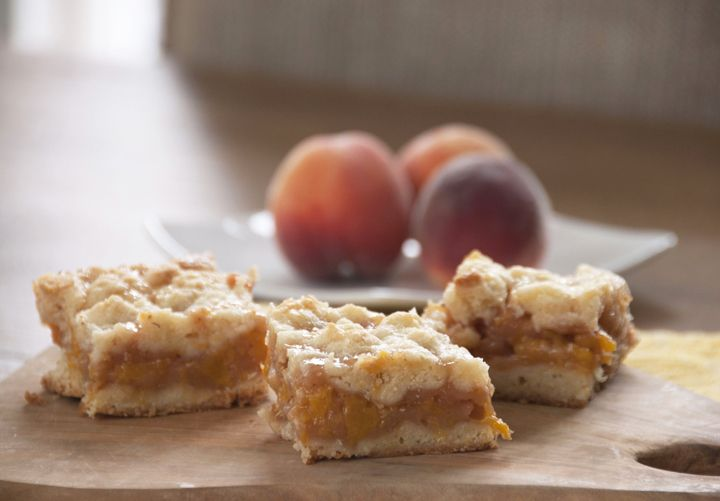 Peach Crumb Bars -