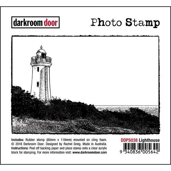 Darkroom Door Photo Stamp - Lighthouse