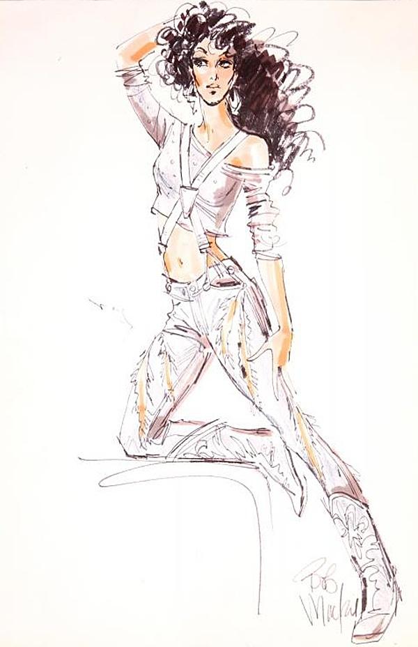Bob Mackie's Cher sketches.