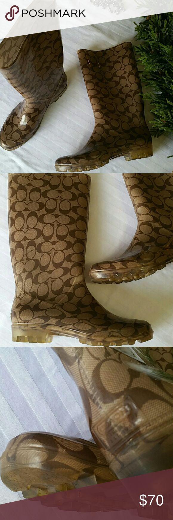 COACH RAIN BOOTS Excellent condition Coach Shoes Winter & Rain Boots