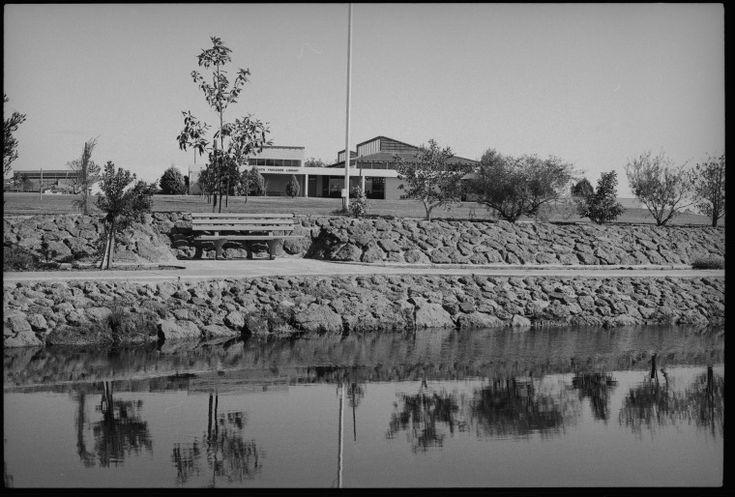 244131PD: View across lake to Ruth Faulkner Library, ca. 1970. https://encore.slwa.wa.gov.au/iii/encore/record/C__Rb3763688