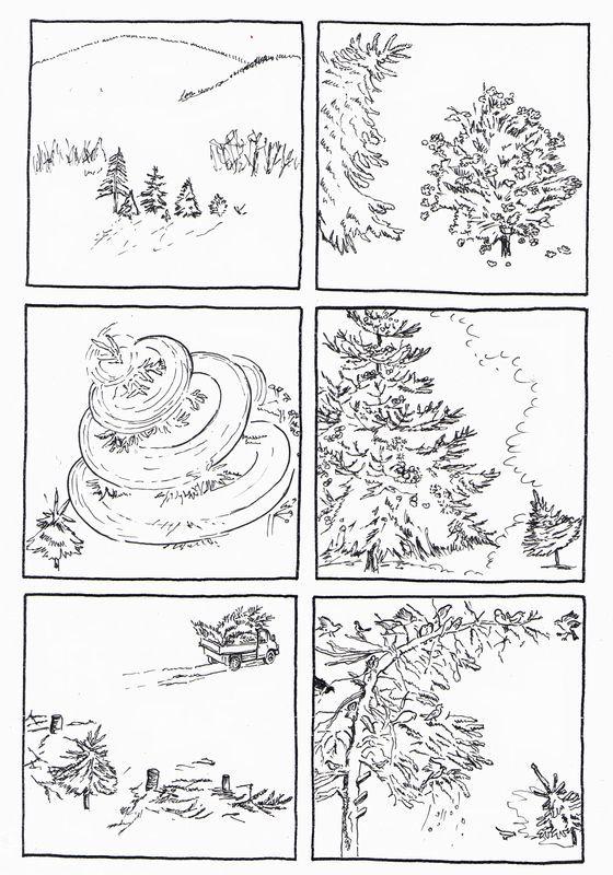 """6 images séquentielles de l'album : """"La robe de Noël"""" de Satomi Ichikawa à l' école des loisirs - dis bonjour au soleil"""