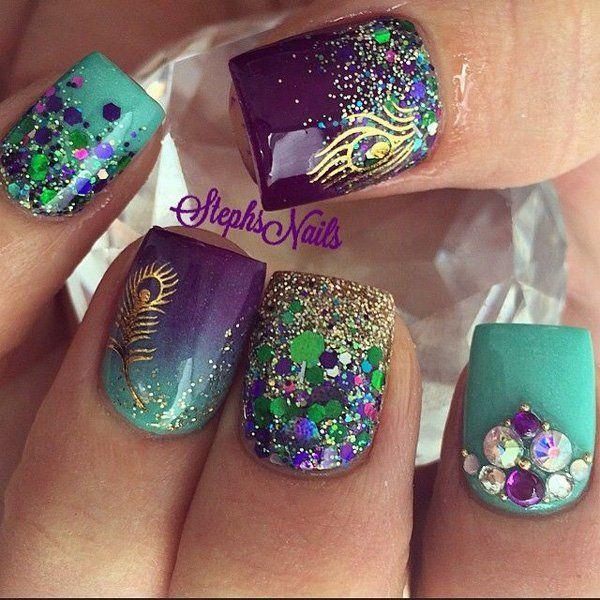 Pero, the color purple … again shine. Pure glamor…