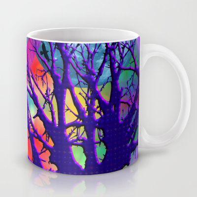 Rainbow Moon Mug by Sara PixelPixie - $15.00
