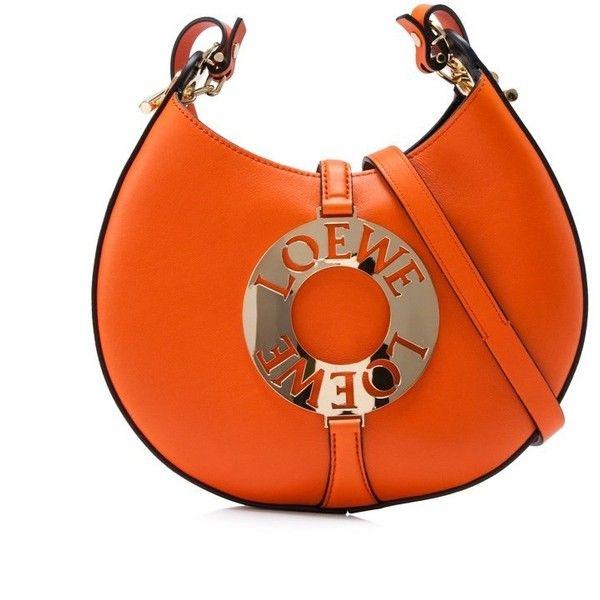 Loewe Joyce Small Bag ($1,460) ❤ liked on Polyvore featuring bags, handbags, shoulder bags, orange, shoulder strap purses, single strap shoulder bag, loewe handbags, orange handbags and shoulder strap handbags