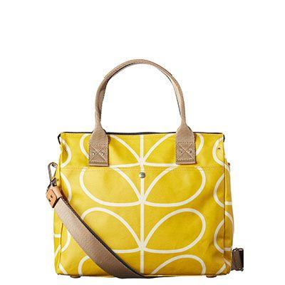 Orla Kiely | USA | bags | SALE - Bags | Giant Linear Stem Zip Messenger (16SELIN100) | dandelion