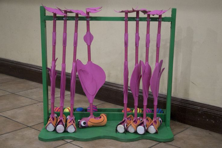 Alice in Wonderland Croquet set made from an actual set and sheets of foam