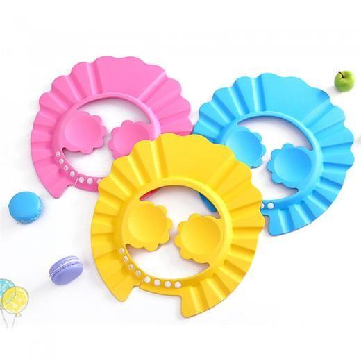 Baby Kids Adjustable Shampoo Bath Bathing Shower Cap Hat Wash Hair Shield