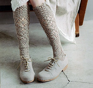 oh my. socks from Tricotage de Lin, a Japanese crochet book