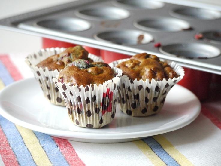 Polskie South Beach: Muffinki z malinami