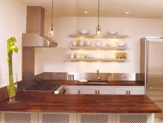 reclaimed wood counters kitchen islands | Stylish Kitchen Countertop Materials, Modern Kitchen Design Trends ...