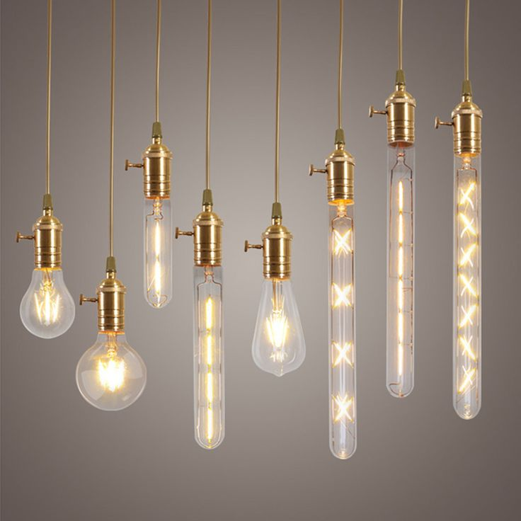 Dimmable E27 Edison LED Bulbs Filament COB Lamp Retro Globe Lighting AC 220V