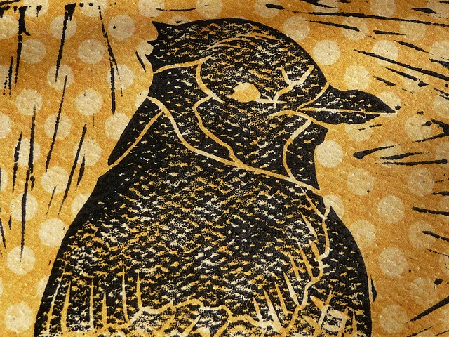Blue Jay Linocut Print by English Girl at Home, via Flickr