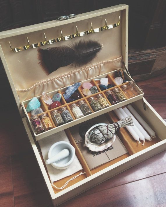 Witch's Charm Box Kit Cream by MoveWithTheMoon on Etsy