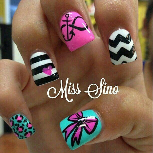 25+ Best Ideas About Crazy Summer Nails On Pinterest