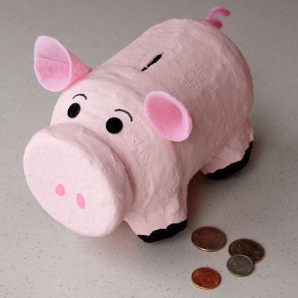 Handy Hamm Piggy Bank | Crafts | Spoonful - @Sammi Cutlip  Maybe this is a way to make a piggy bank for Trin?