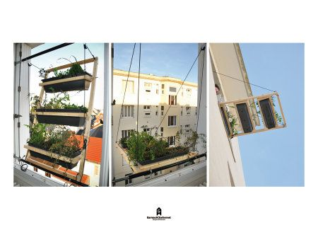 Room with a View: Window Shutter As Micro Urban Garden - Design - GOOD