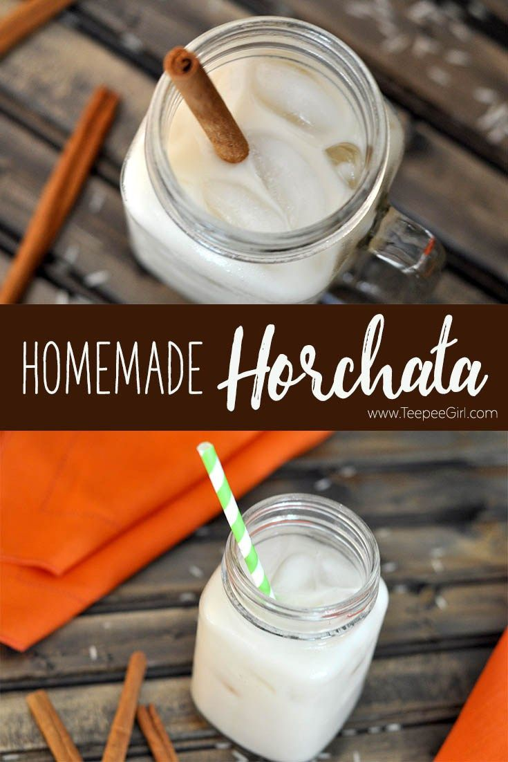This homemade horchata is so delicious! It tastes just as good as anything you can find at a restaurant, & the recipe is very flexible. www.TeepeeGirl.com