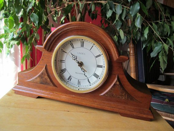 Vintage Linden Classic Tambour Mantel Clock With By