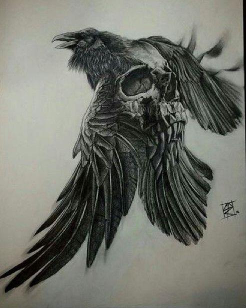 Crow Tattoo Ideas Raven