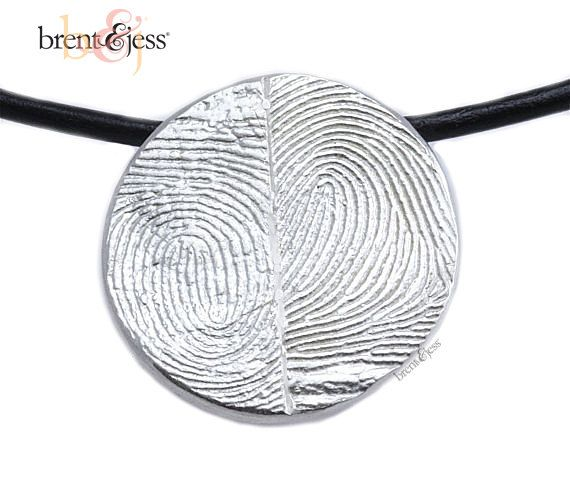 Sterling Silver Custom Double Thumbprints Pendant or by fabuluster, $235.00