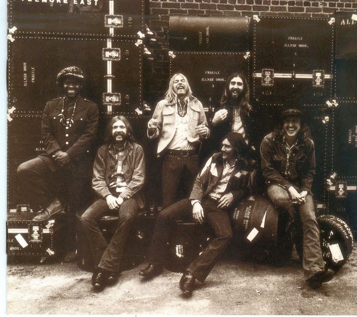 The Allman Brothers Band at Fillmore East in 1971 ( L-R) Jaimoe, drums,  congas and timbales; Duane Allman, guitar; Greg Allman, organ and vocals;  ...-  Awesome album.I had a lot of Allman Bros albums.I always liked the double drummers.First Duane and now Gregg. So long  Brothers  Allman.  Cher has lost 2 of her ex-husbands now.