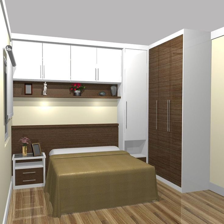 Projeto para quarto de casal pequeno.