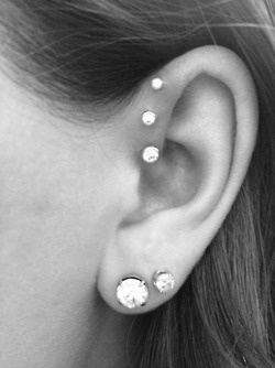 Triple Forward Helix… no ink but can get away with this… OH yeah…