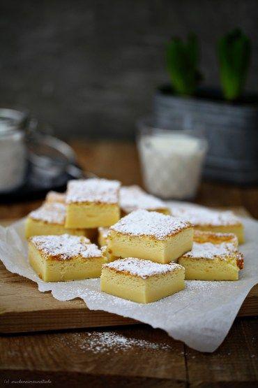 Rezept für Magic Cake/Magischer Kuchen: Nur ein Teig, der beim Backen zu drei Schichten wird und nach Vanillepudding schmeckt <3