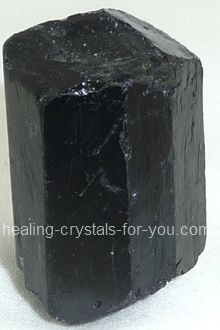 Black Tourmaline crystal is a powerful stone for protection against negative energy of all kinds... as well as being a strong spiritual grounding stone.