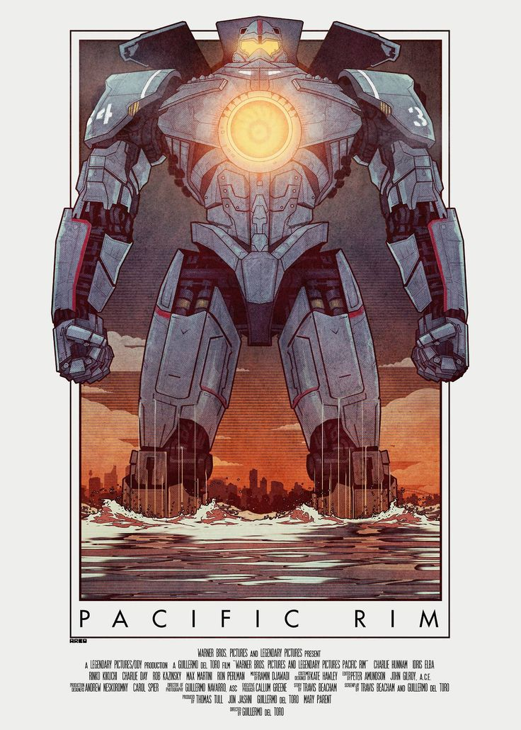 Pacific Rim 2 (see more on http://www.tranchesdunet.com/affiches-de-films-revisitees/ )