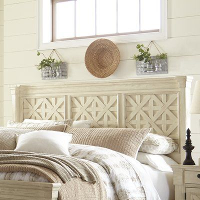 Bring timeless appeal to your master suite or guest room with this mahogany wood headboard, showcasing a Mission-style design and rustic cherry finish.
