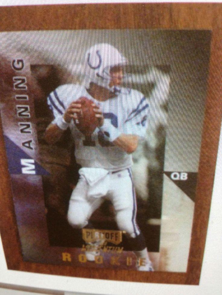 Peyton Manning 1998 Playoff Momentum Hobby Rookie Card  #98