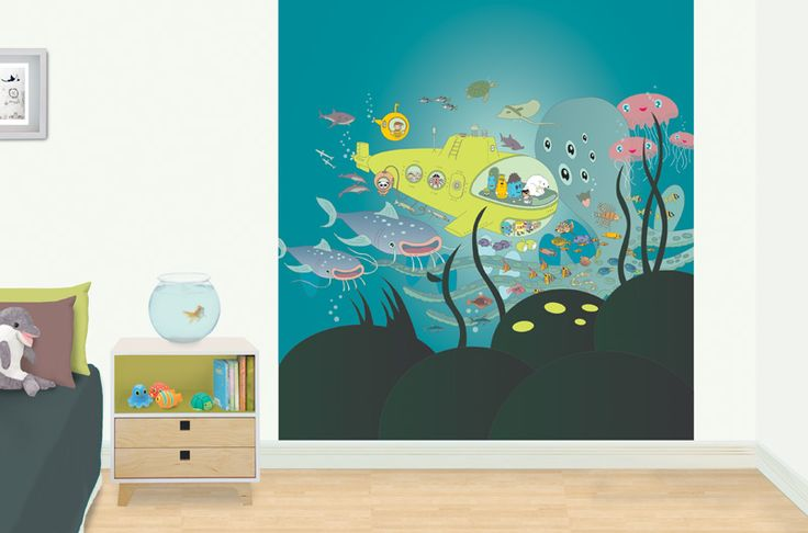 Under the Sea - kid's bedroom mural.