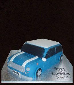Mini Car Shaped Birthday Cake