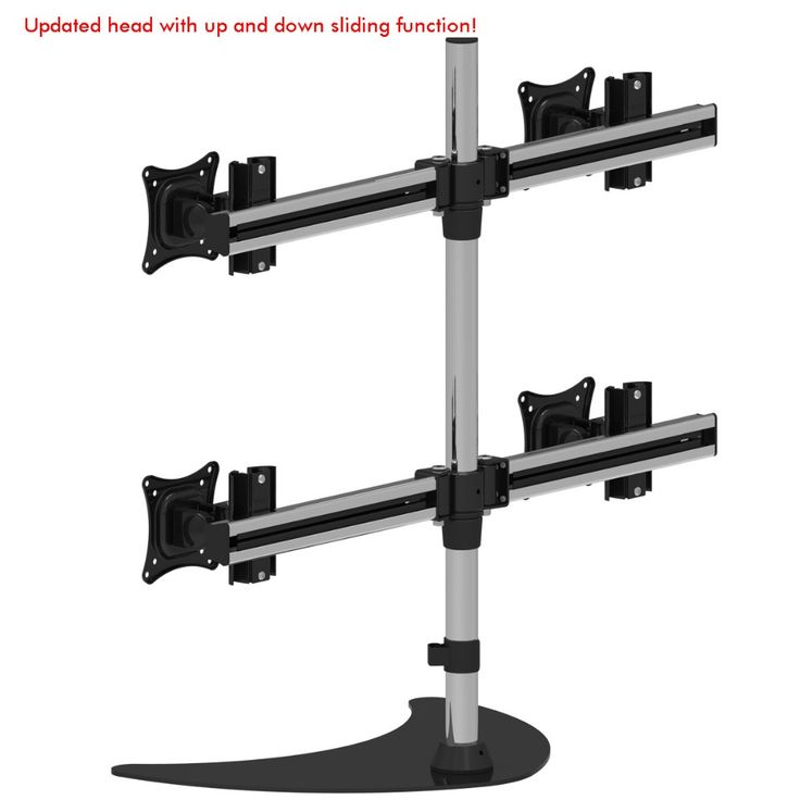">> Click to Buy << 13 - 27"" Four Screen TV Monitor Holder Free Sliding Rotary Desktop Mount 4Screen Perfect Joint Retractable Table Base ML30041 #Affiliate"