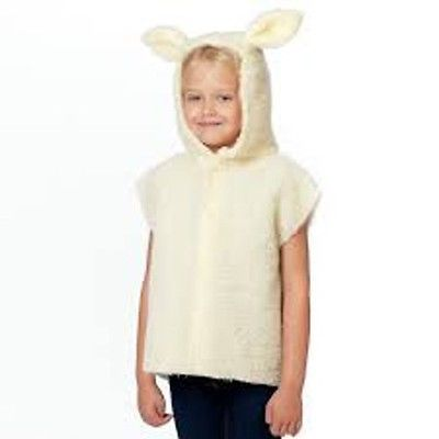 CHILD CHRISTMAS NATIVITY LAMB SHEEP TABARD FANCY DRESS COSTUME AGE 5-8 YRS