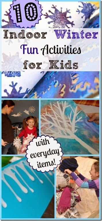 10 FUN Indoor Winter Activities for Kids - These are perfect kids activities for preschool, kindergarten, and elementary age kids!