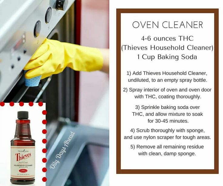 how to clean oven spills naturally