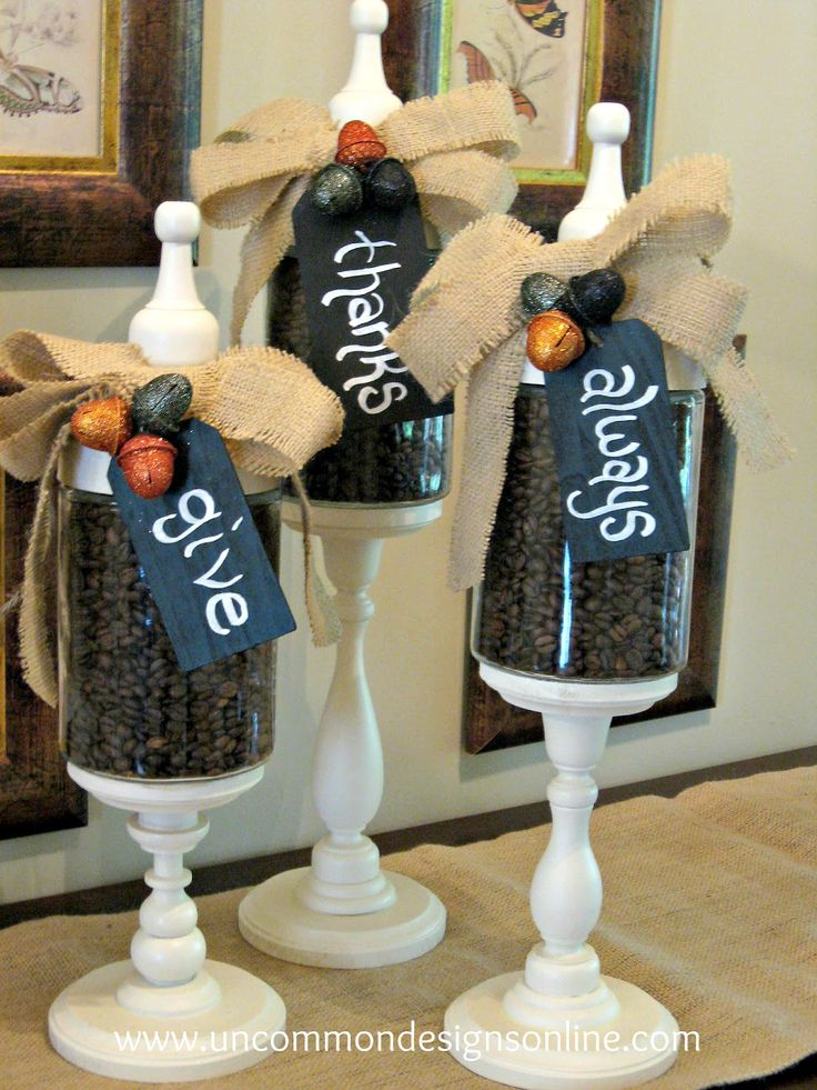 I am making the jars at an activity for church but I love the tags.   Give Thanks Always { Fall Apothecary Jars} |