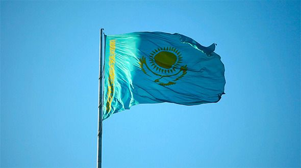 Kazakhstan flag.  #videohive