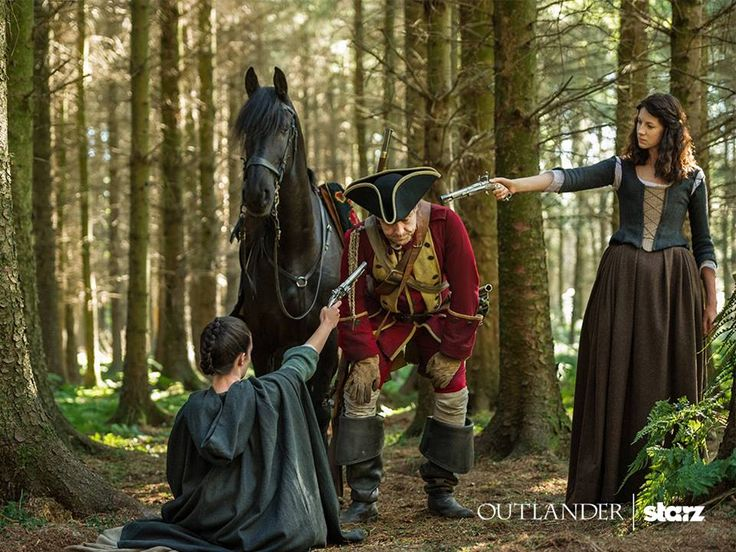 1b-114 ~ THE SEARCH ~ Here is a new still of Caitriona Balfe and Laura Donnelly in Ep. 14 of Outlander Source : Outlander-Starz