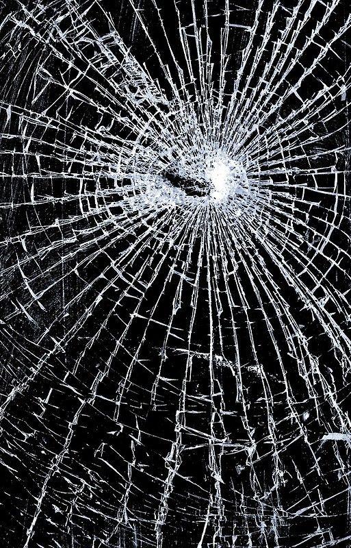 Broken Glass 2 Iphone Case Black On Redbubble Redbubble Cases
