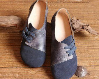 cc92d25fb680a Handmade Women Shoes,Brown Oxford Shoes, Flat Shoes, Retro Leather ...