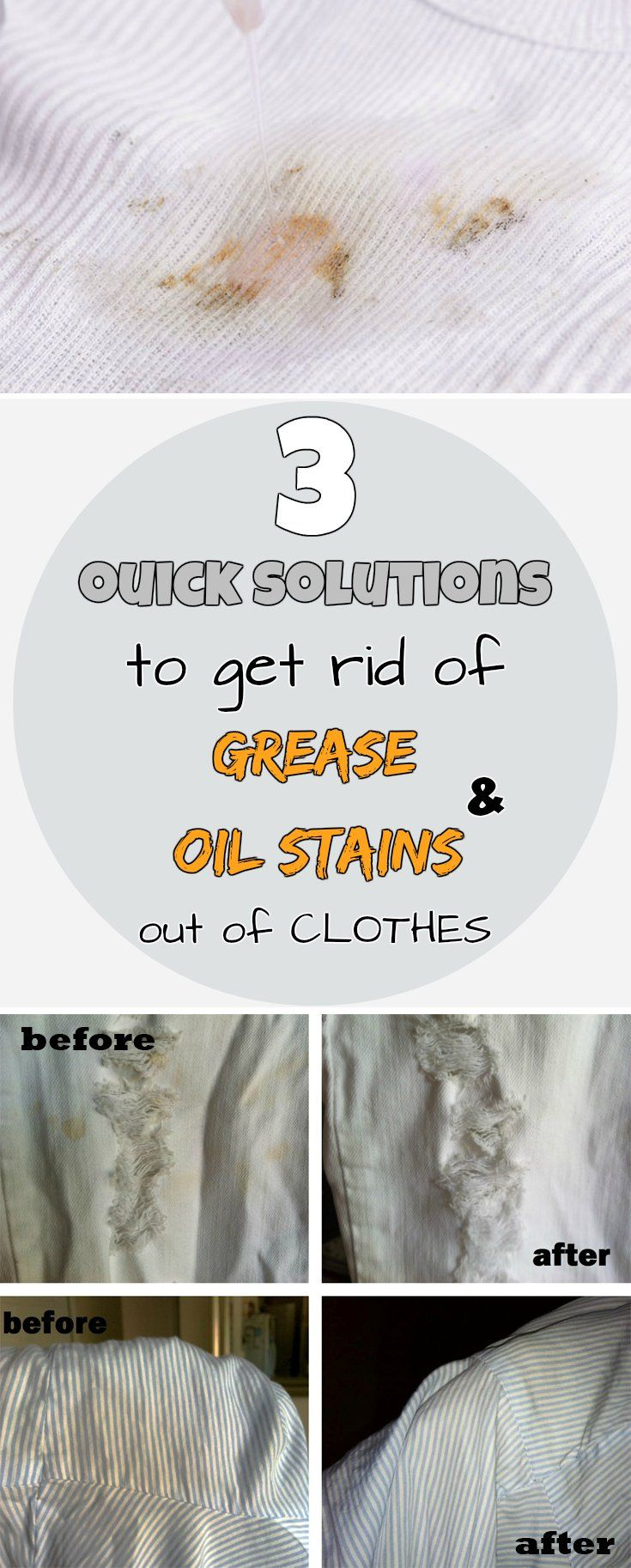 3 quick solutions to get rid of grease and oil stains out of clothes - myCleaningSolutions.com