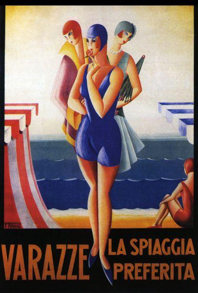 Vintage Italian Posters ~ #Italian #vintage #posters ~ Varazze ,Italy