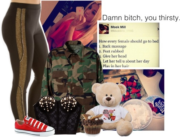 """ but girl you ain ' t the only one that ' s tryna be the only one. "" by v3ra ❤ liked on Polyvore"
